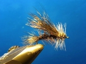 The Seducer is a buggy pattern with just enough flash to tempt trout.